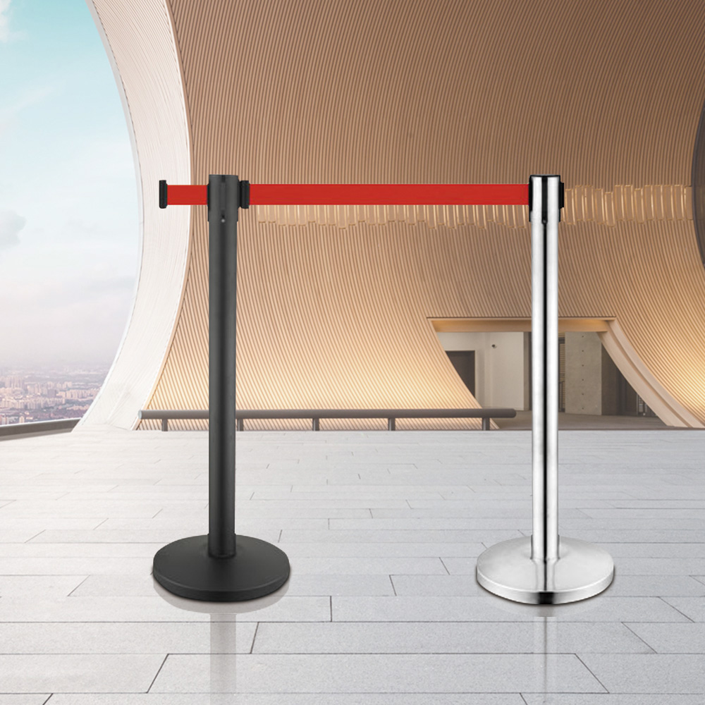 LG-A1 Stainless Steel Crowd Control Retracable Belt Stanchion Formovie Theater